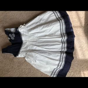 Navy and white girls dress size 4